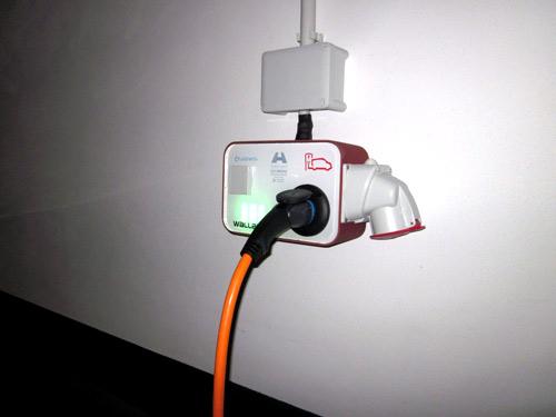 Punto de recarga instalado en el Hotel las Arenas para coches eléctricos
