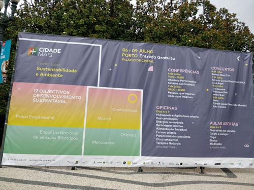 Cartel publicitario V Encuentro Nacional de Vehículos Eléctricos - ENVE 2017 en Portugal