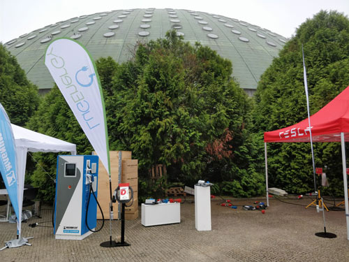 Stand de LugEnergy en V Encuentro Nacional de Vehículos Eléctricos - ENVE 2017 en Portugal