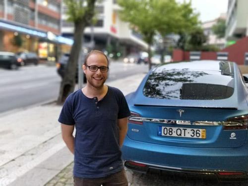 Tesla Model S V Encuentro Nacional de Vehículos Eléctricos - ENVE 2017 en Portugal