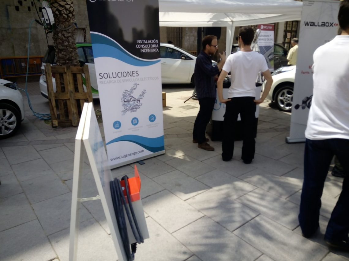 stand de lugenergy en I Feria del Vehículo Eléctrico deAlbatera