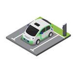 cargar coche electrico en el trabajo
