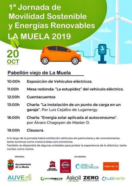 Cartel de la I Jornada de Movilidad Sostenible de La Muela