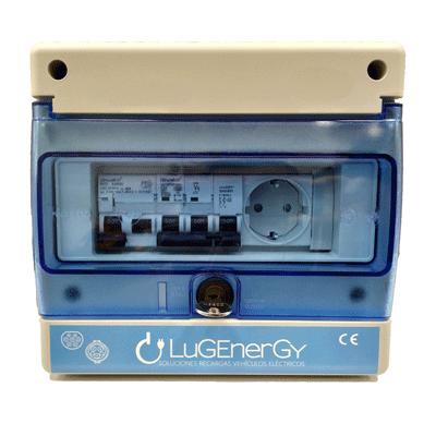 Caja de proteccion monofásica para punto de recarga coche eléctrico