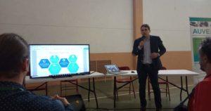 Ponencia sobre instalación de vehículos eléctricos en la I Jornada Sostenible La Muela