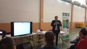Victor Sanchis, CEO de LugEnergy, en la I Jornada Sostenible La Muela sobre vehiculos electricos