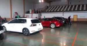 Exposición de coches Jornada vehículos eléctricos