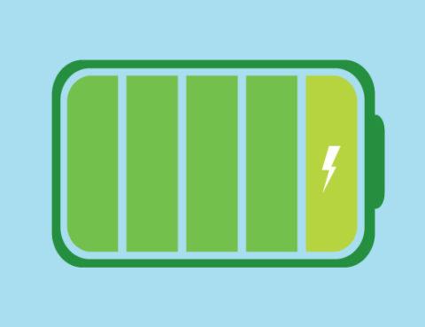 bateria de coche electrico llena al 100%