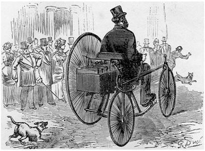 triciclo considerado el primer coche electrico de la historia