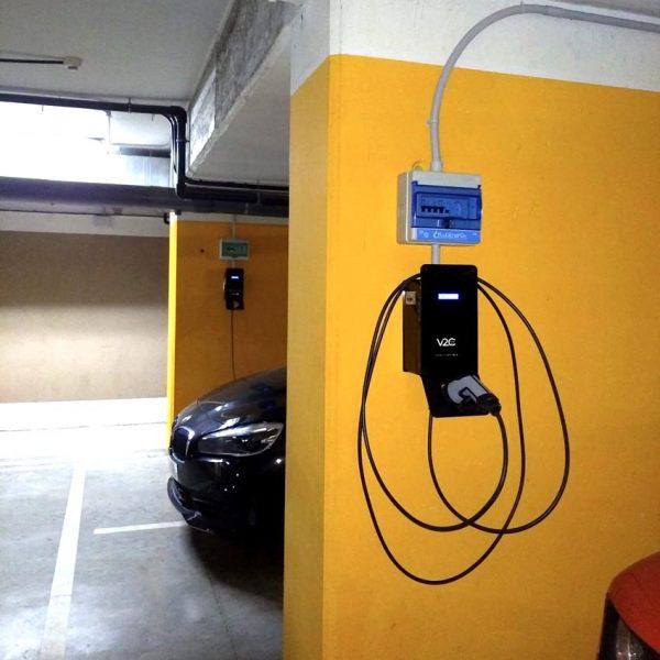instalacion de cargador coche electrico garaje comunitario