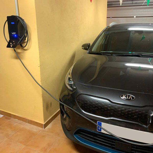 cargador v2c para coches electricos