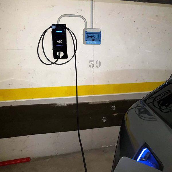 instalar cargador electrico garaje comunitario