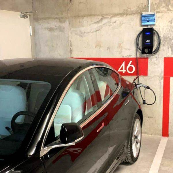 instalacion para recargar un coche electrico