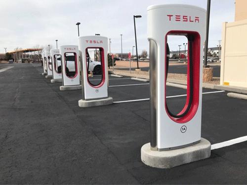 Red de cargadores para los modelos Tesla