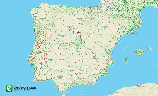 Electromaps, mapa de cargadores publicos