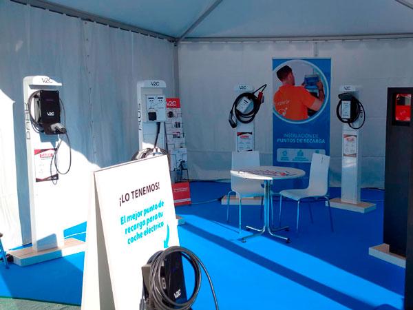 Stand de LugEnergy en la Feria de Vehículos Eléctricos de Madrid