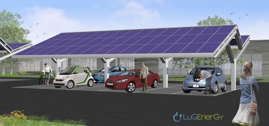 Fotolinera. Punto de Recarga con energía solar.