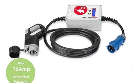 Punto de recarga portátil conector SAE J1772 16A